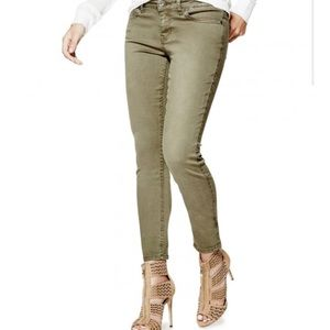 Guess Los Angeles Jeans Army Green Skinny Size 25